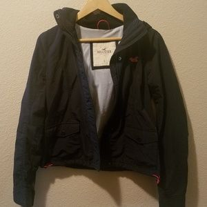 Hollister jacket navy boys size L
